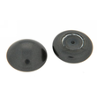 Imit. Perle button agb. Ø 6,0 mm Black