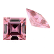 Zirkonia pink carre step cut