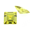 Zirkonia peridot carre step cut
