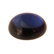Synth. Saphir oval cabochon