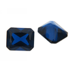 Synth. Blau Spinell achteck step cut 8 x 8 mm