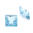 Blau Topas Swiss carre invisible setting